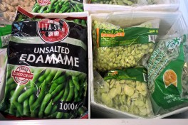 different kind of deep freeze Edamame packages